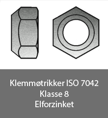 Klemmøtrikker ISO 7042 - Bolte.dk