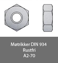 Møtrikker - DIN 934 - Bolte.dk
